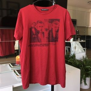 Dolce and gabbana red tee